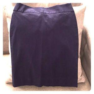Banana Republic navy blue stretch pencil skirt